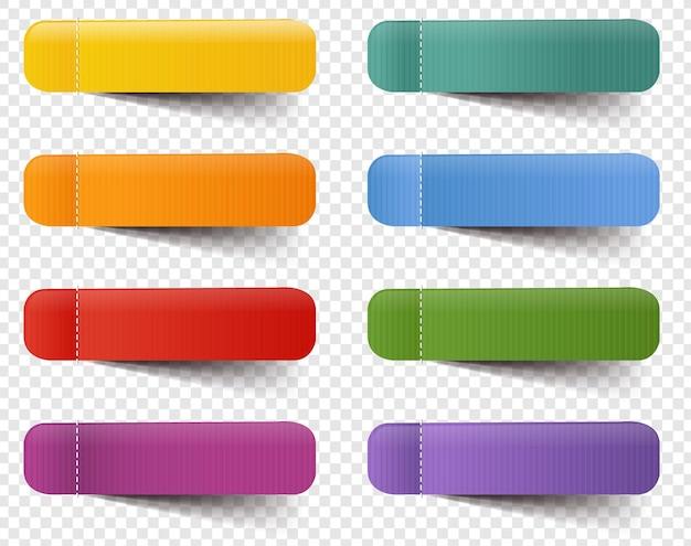 Web etichette grande insieme isolato sfondo trasparente con maglia di gradiente, Vettore Premium