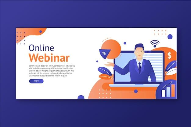 Modello di banner webinar Vettore Premium