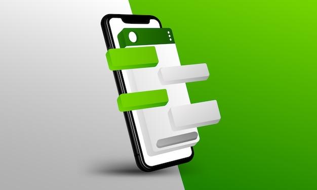 Layout di whatsapp Vettore Premium