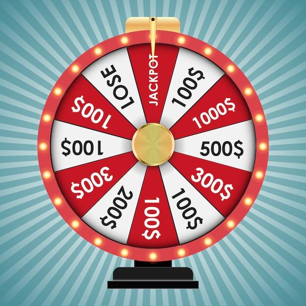 Wheel of fortune, lucky game. Vettore Premium