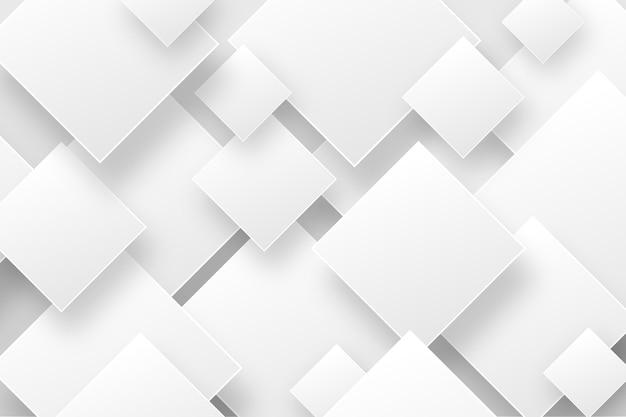 Priorità bassa astratta bianca nello stile del documento 3d Vettore Premium