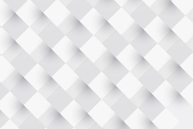 Sfondo astratto bianco in stile carta 3d Vettore Premium