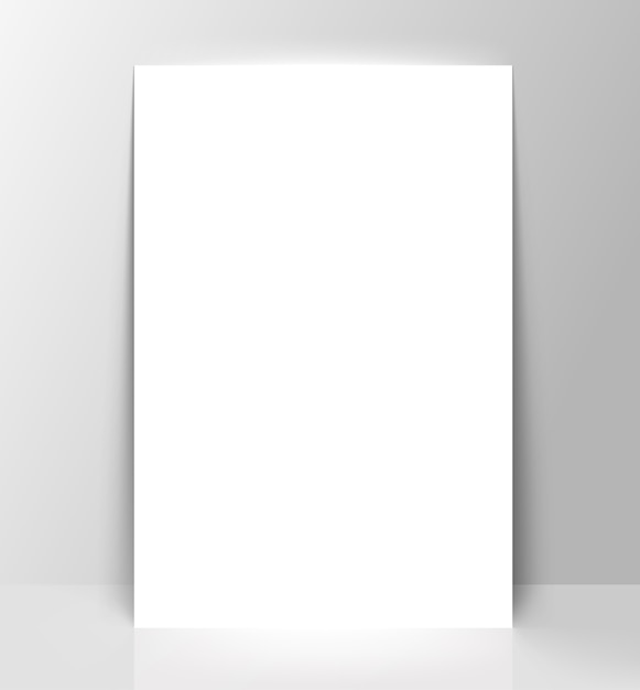 Cornice bianca sul muro bianco Vettore Premium
