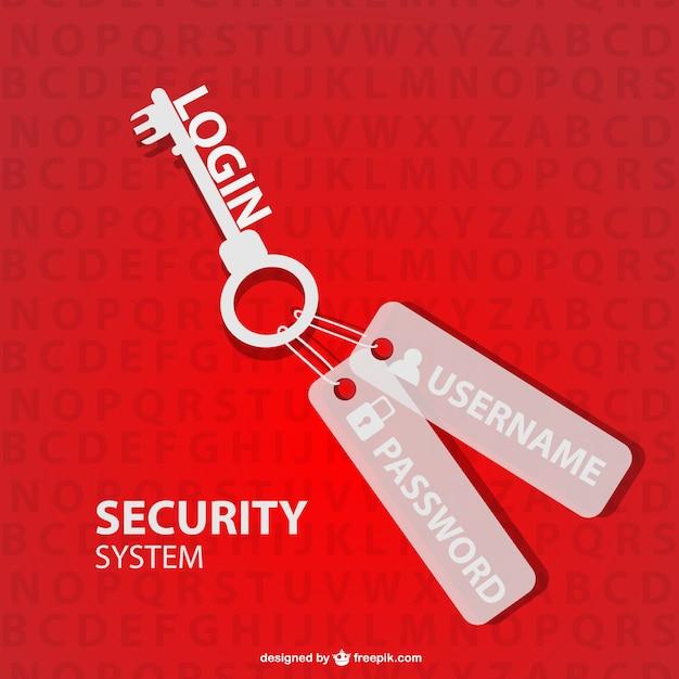 Chiave di sicurezza log in vettoriale Vettore Premium