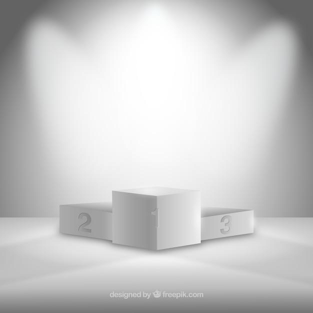 Podio bianco Vettore Premium