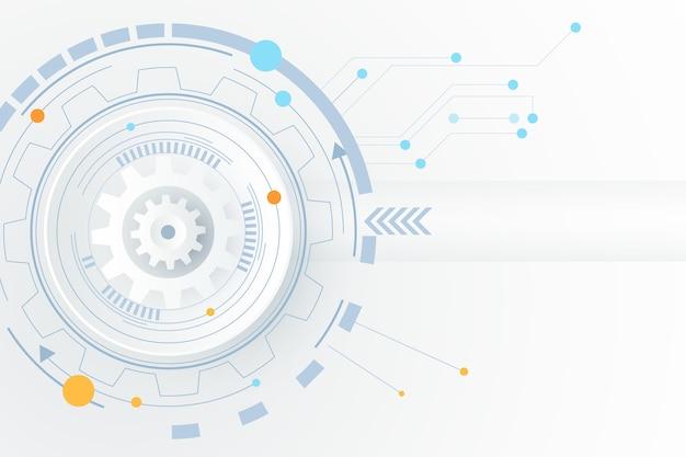 Sfondo bianco tecnologia Vettore Premium