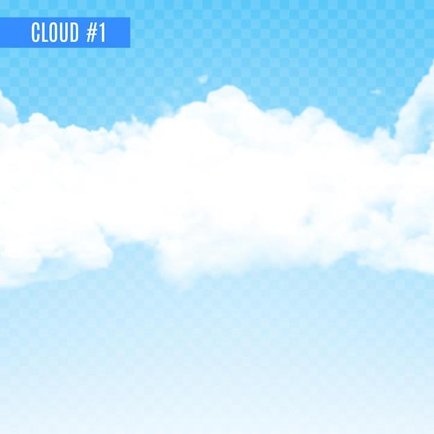 Fumo trasparente bianco o design nuvola. effetto fumo su sfondo trasparente. nuvola realistica per tempo e cielo. Vettore Premium