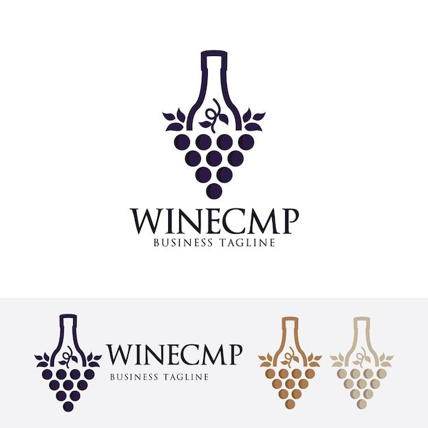 Modello di logo dell'azienda vinicola Vettore Premium