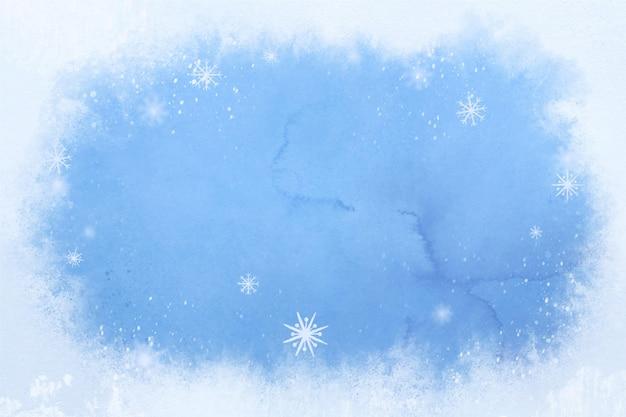 Acquerello di sfondo invernale Vettore Premium
