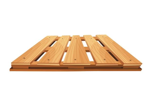 Un bancale di legno. piattaforma per trasporto merci. Vettore Premium