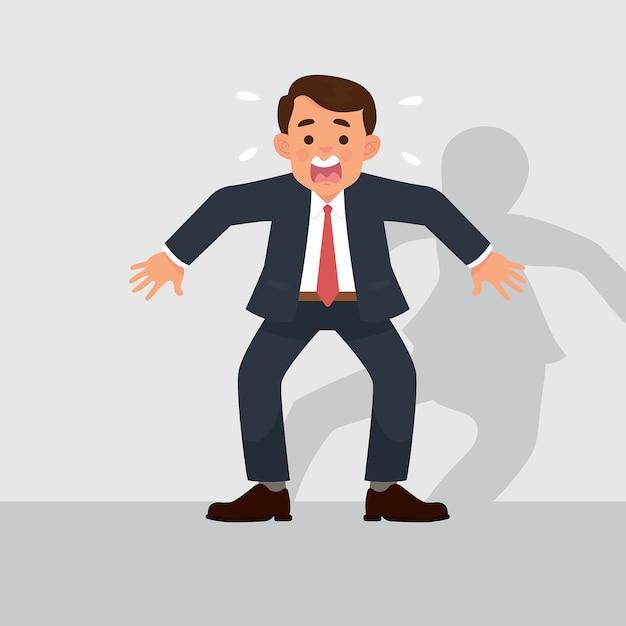 I lavoratori si sentono scioccati e spaventati Vettore Premium
