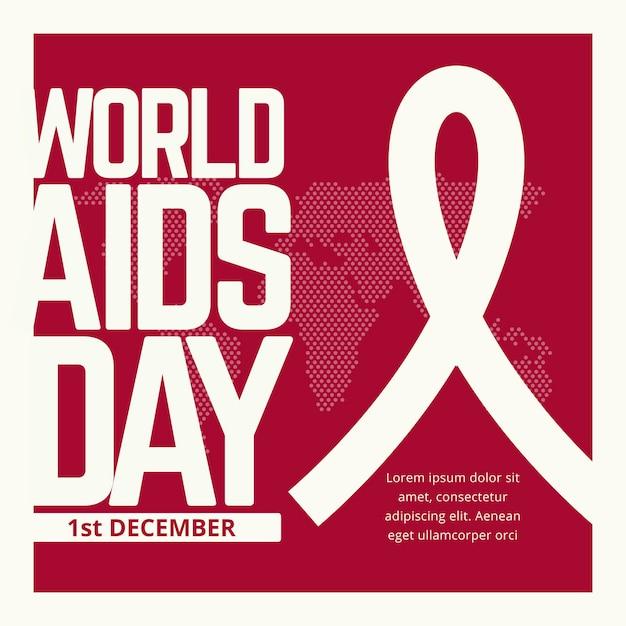 Testo dell'evento della giornata mondiale contro l'aids Vettore Premium