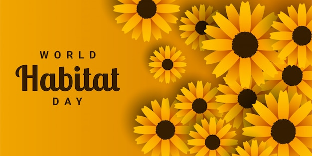 Giornata mondiale dell'habitat Vettore Premium