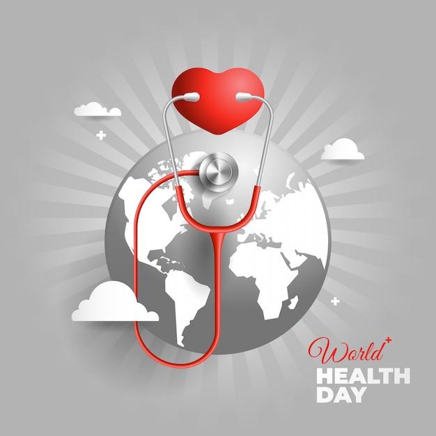 Illustrazione della giornata mondiale della salute Vettore Premium