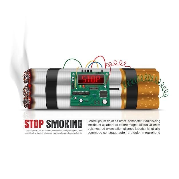 Giornata mondiale senza tabacco Vettore Premium