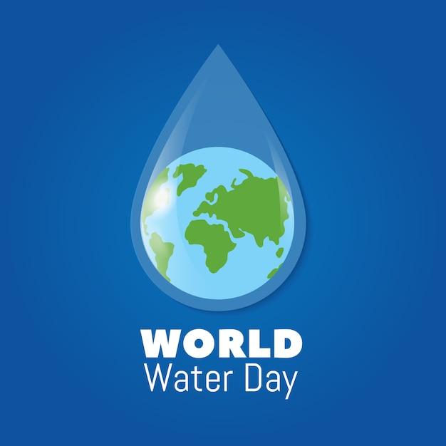 Giornata mondiale dell'acqua di fondo Vettore Premium