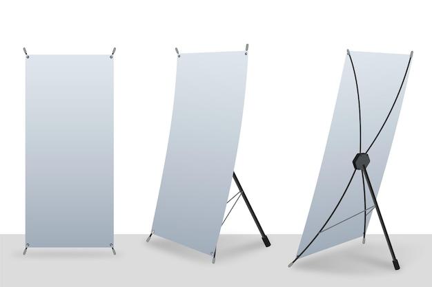 X stand roll up banner Vettore Premium