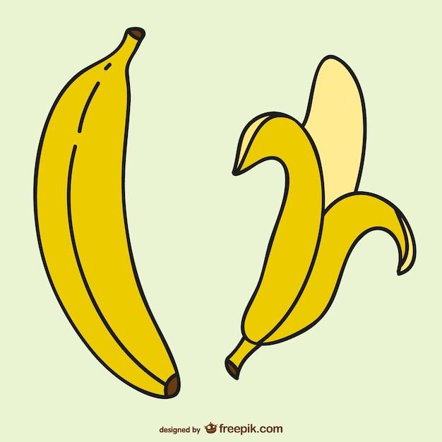 Banane vettoriali libero Vettore Premium