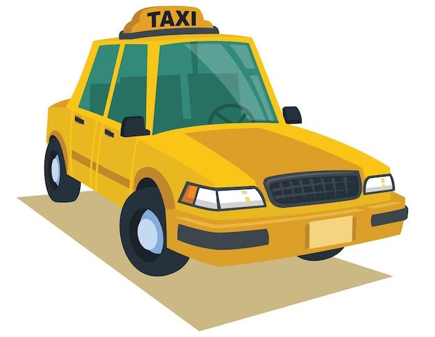 Carrozza gialla nello stile del fumetto di vettore Vettore Premium