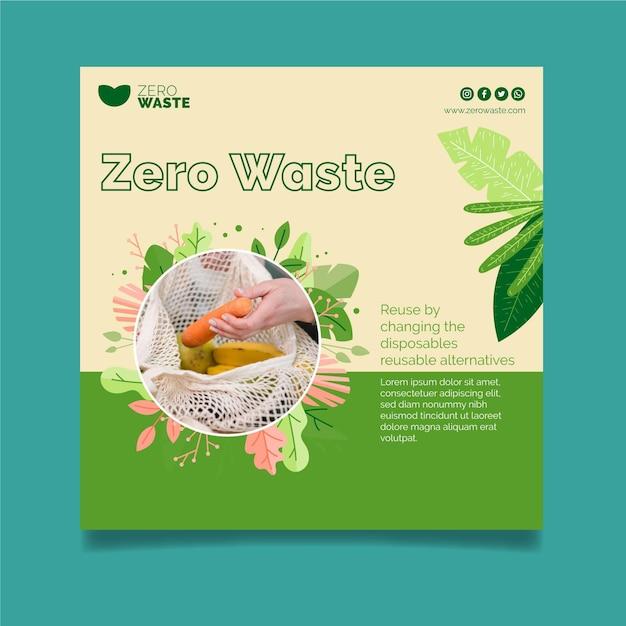 Piazza volantino rifiuti zero Vettore Premium