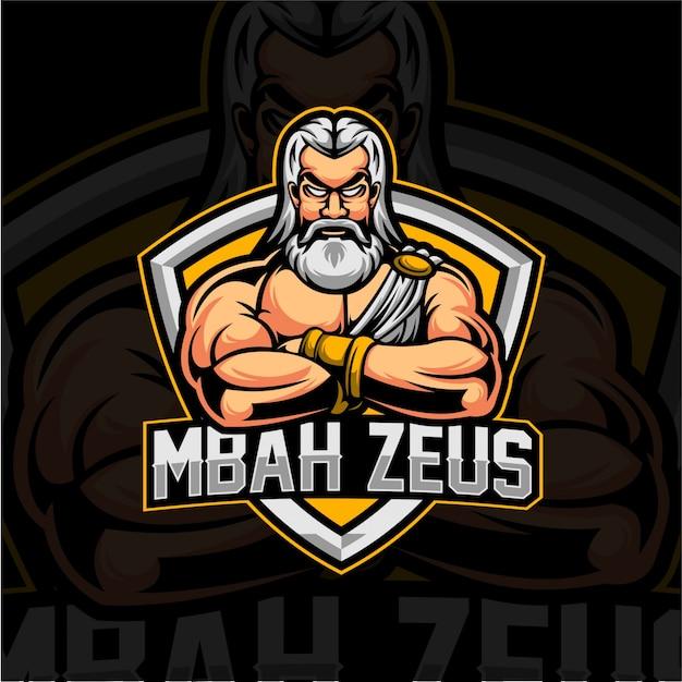 Logo zeus esport Vettore Premium