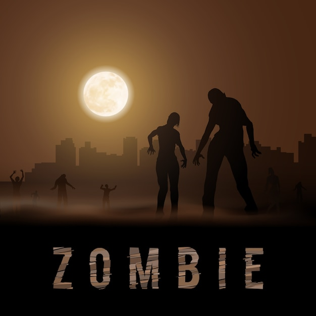Zombie poste Vettore Premium