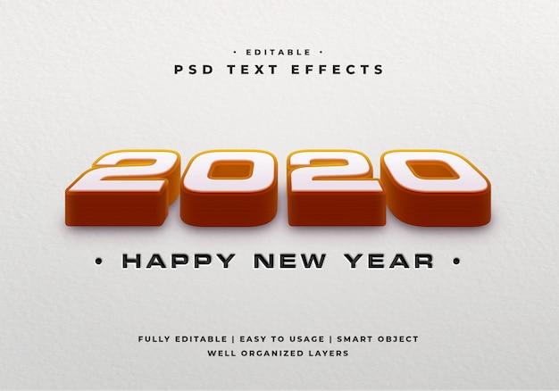 2020 3d-tekststijleffect mockup Premium Psd