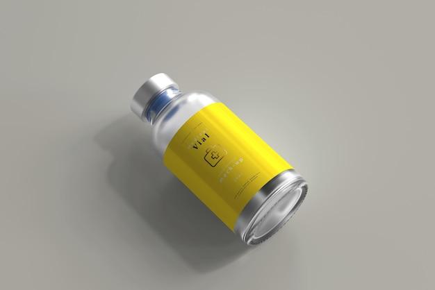 25 ml flesje fles mock up Gratis Psd