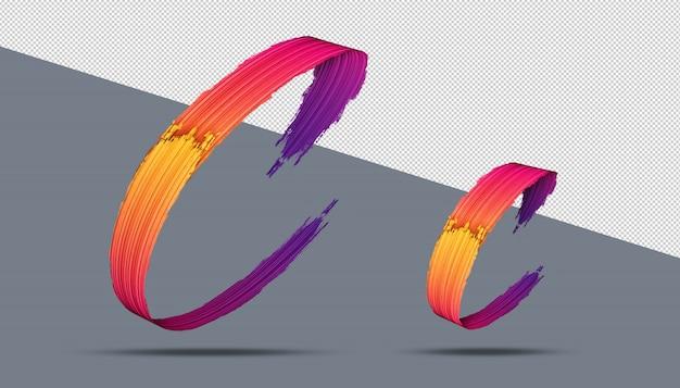 3d-alfabet kalligrafie olieverf stijl Premium Psd