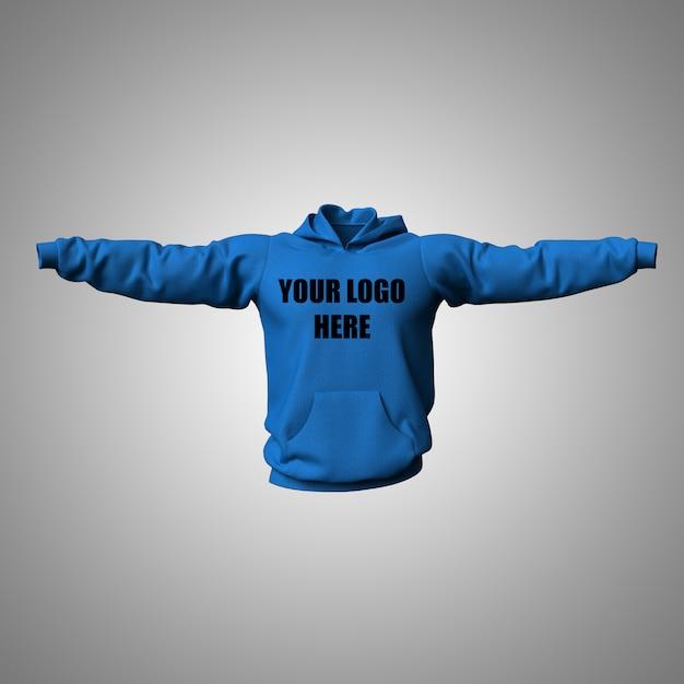 3d bewerkbare hoodie mock-up ontwerp Gratis Psd