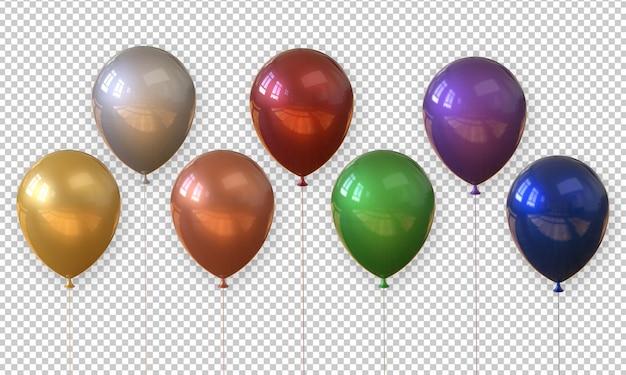 3d che rende pallone realistico isolato Psd Premium