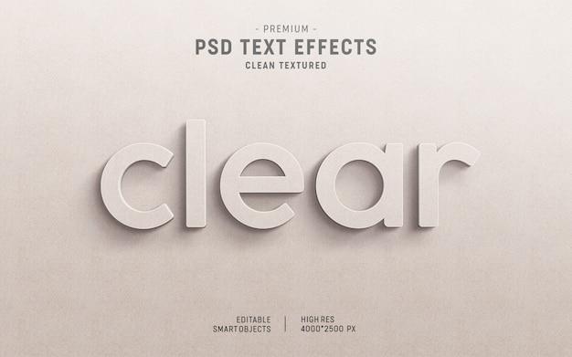 3d clear paper text effect mockup Premium Psd