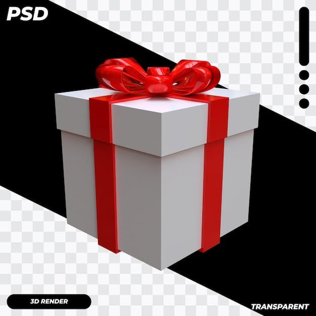 3d-doos met lint Premium Psd