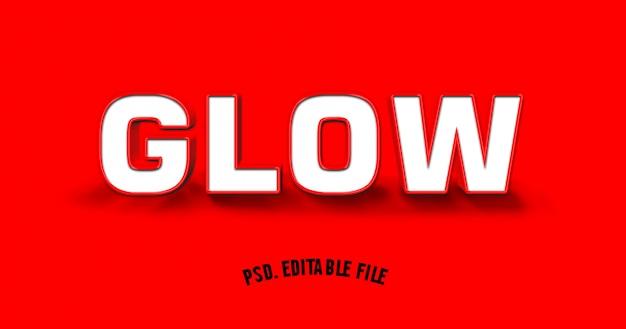 3d-effect lettertype alfabet wit op rode achtergrond Premium Psd
