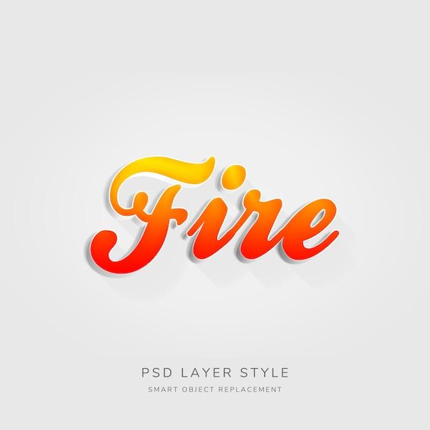 3d-effect rode stijl tekststijl Premium Psd
