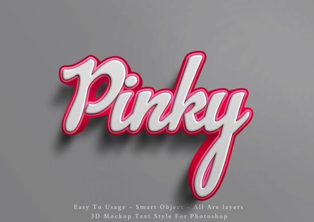 3d effect van de mockup roze tekststijl Premium Psd