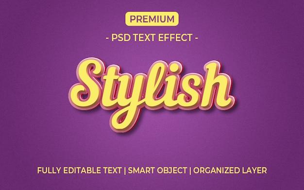 3d geel en paars teksteffect mockup Premium Psd