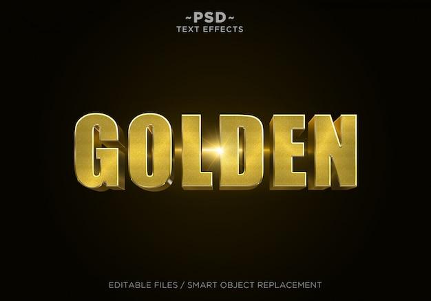 3d gouden glittereffect bewerkbare tekst Premium Psd