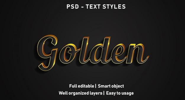 3d-gouden teksteffecten stijl Premium Psd