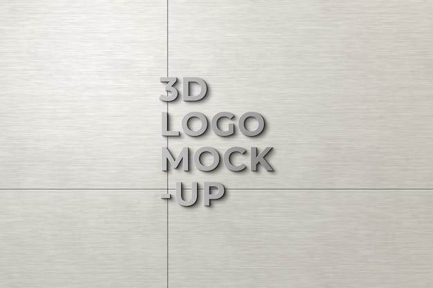 3d-logo-mockup op de muur Gratis Psd