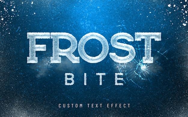 3d mockup frost bite ijs lettertype stijl effect Premium Psd