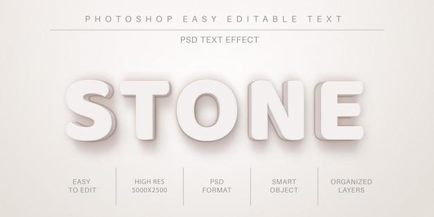 3d-realistische stenen bewerkbare teksteffect, tekenstijl Premium Psd