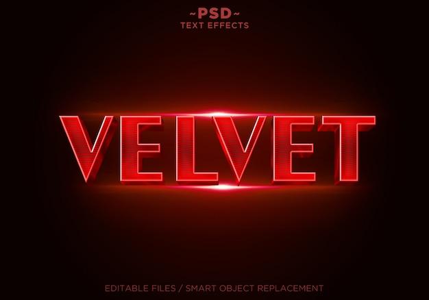 3d red velvet effecten bewerkbare tekst Premium Psd