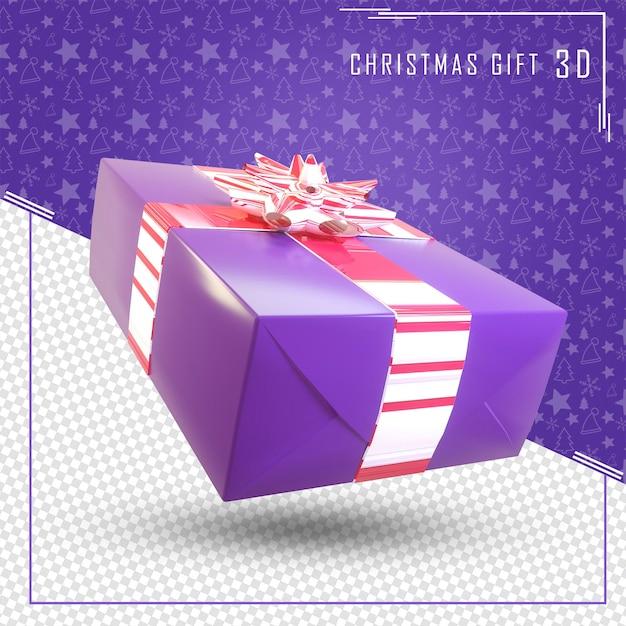 3d render geschenkdoos voor merry christmas Premium Psd