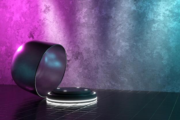 3d-rendering realistisch podium voor productvertoning Gratis Psd