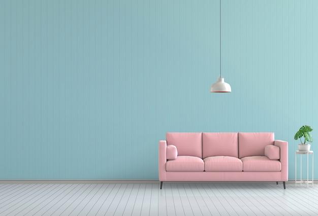 3d rendono della stanza di colore vivente moderna interna Psd Premium