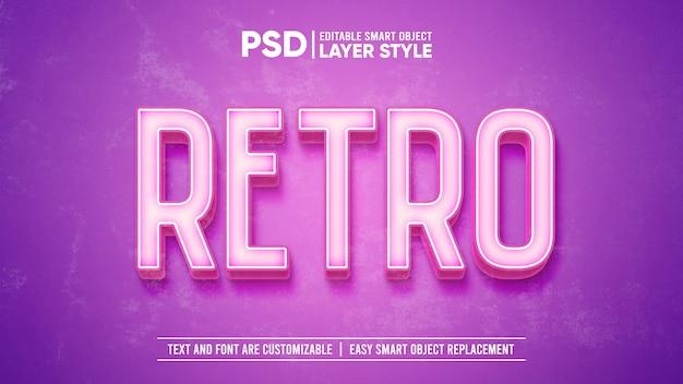 3d-roze vintage retro gewassen oud papier teksteffect sjabloon Premium Psd