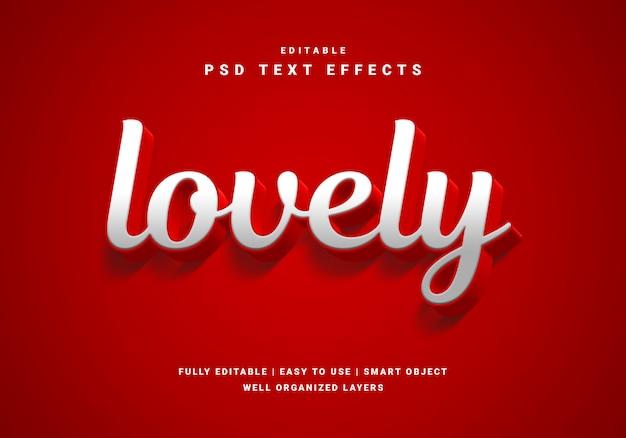3d stijl valentijn mooi teksteffect Premium Psd