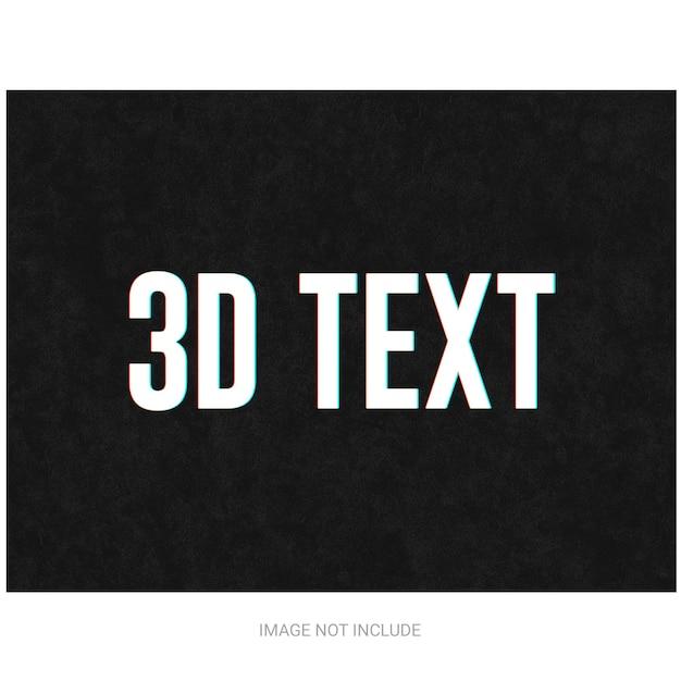 3d-teksteffect Premium Psd