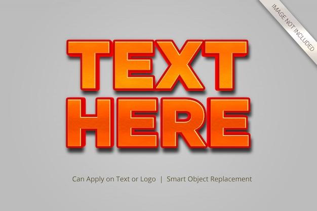 3d-teksteffectstijl Premium Psd